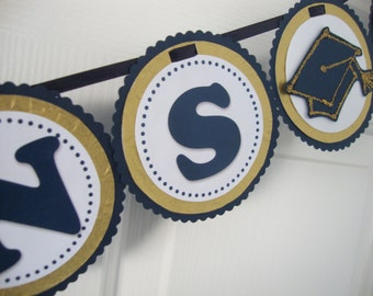 Customizable Graduation Banner with specialty paper (metallic or glitter)