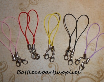 10 pcs Mixed Colors Cell Phone Lanyard Straps Cords w/ Lobster Clasp Zipper pull