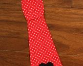 Valentine Tie Iron On Applique, You Choose Fabric