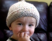Hat Knitting Pattern for Baby Acorn Stull Cap ... PATTERN ... PDF file... with Elf long tail option