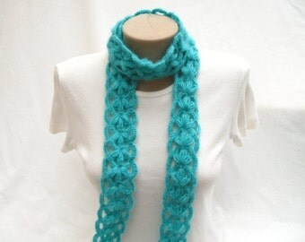 PDF Tutorial  Pattern, Tutorial Video, Crochet Scarf, Puff Stitch Scarf. Headband