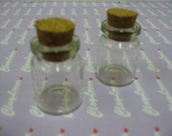 2 pcs. Miniature Bottle with Cork