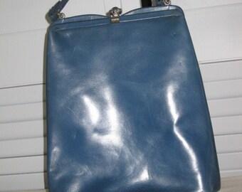 vintage Nicholas Reich Handbag in Teal Leather