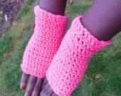 Vibrant Pink Fingerless Gloves