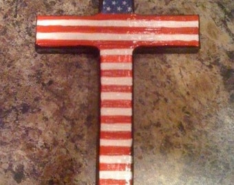 "Hand painted 4.5""x8"" wooden crosses"