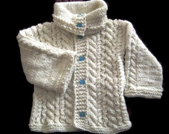 Knit baby Cable Cardigan