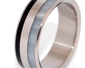 wedding rings, titanium rings, wood rings, men's ring, women's ring, unique wedding ring, engagement rings, commitment ring - FORTRESS