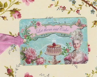 Tags, French Style, Marie Antionette, Let Them Eat Cake, Gift Tags, Party Favors