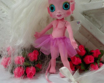 Shhhhhh its a PixieTroll OOAK original custom art Troll doll preorder GIRL