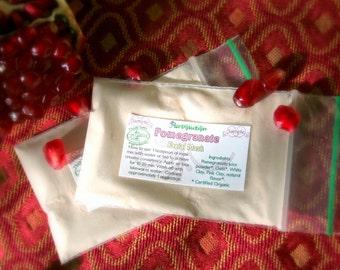 Organic Pomegranate Facial Mask - revitalizing, cleansing, natural, vegan - great for dry sensitive skin - SAMPLE