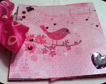 Premade Scrapbook/Album You Make My Heart Sing