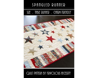Quilt Pattern PDF Spangled Runner -- Scrap Friendly
