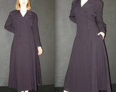 RESERVED for ferris3of9  untill 01/28/17 Vintage Navy Trench COAT, Ann Klein for Bergdorf Goodman, 1980s