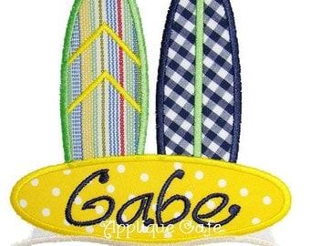 309 Surfboards Machine Embroidery Applique Design