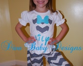 Girls Chevron Minnie Mouse Birthday or Disney Outfit