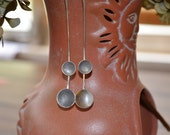 Sterling Silver Moons Hammered Wire Torched Earrings