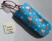 Padded Eyeglass / Sunglass Case - HELLO KITTY Colorful Print Eyeglass Case specially for Kids or Young at Heart