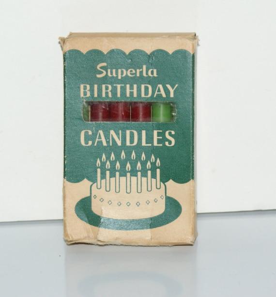 Vintage Birthday Candles 63