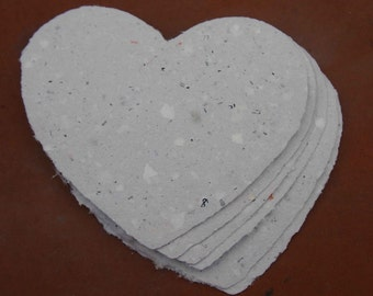Handmade Recycled Paper - Hearts Junk Mail
