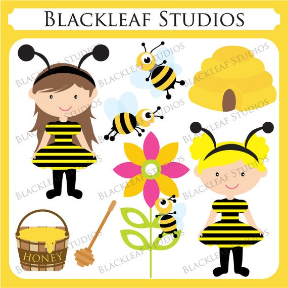 Bumble Bee Baby Clip Art - Personal and Commercial Use Downloadable Digital Images
