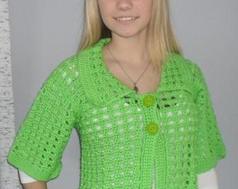 Jacket in Lime Green