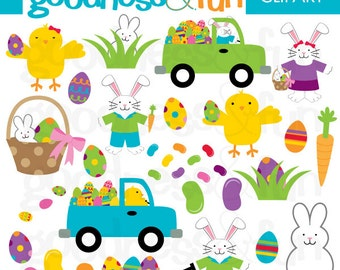 Buy 2, Get 1 FREE - Easter Brights Clipart  - Digital Easter Clipart  -  Instant Download