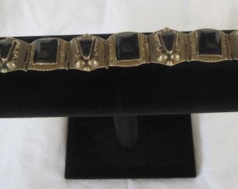 Vintage Peruvian Alpaca and Oxidian Bracelet