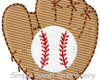 Baseball Glove Mini Machine Embroidery Design