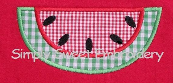 Watermelon 2 Machine Embroidery Applique Design