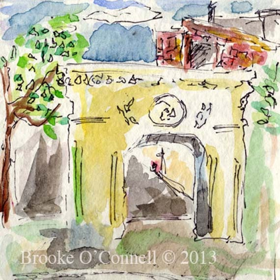 Washington Square Park Archway New York City -Fine Art Watercolor Print