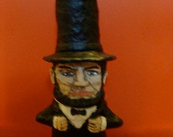 Abraham Lincoln Keepsake-holder Jar Sculpture*Made To Order*