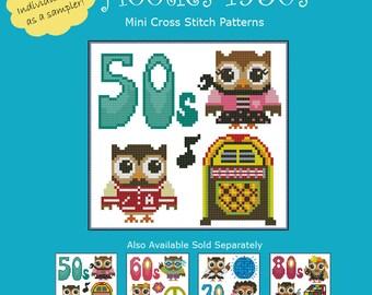 Hooties 1950s Cross Stitch Pattern PDF Chart