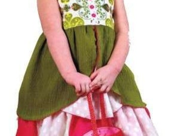 Emma Petal Jumper and Skirt Pattern for Girls by Modkid Sizes 2T-10