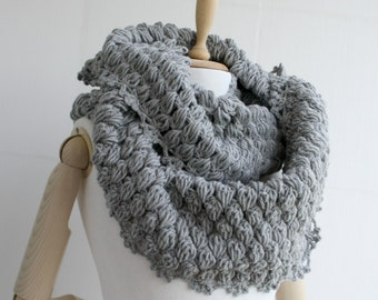 Infinity Loop Circle Scarf Gray For Her for women  and Gift under 60
