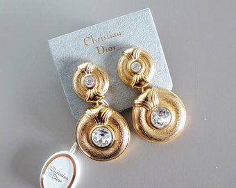 Vintage Christian Dior Gold Plated Earrings