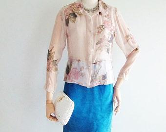 TSUMORI CHISATO Floral Silk Blouse