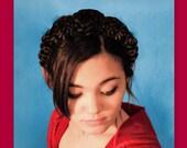wedding flower bridal crown headband hairpiece hair style hairstyle flower rose woman adult hair accessory costume hairband renaissance