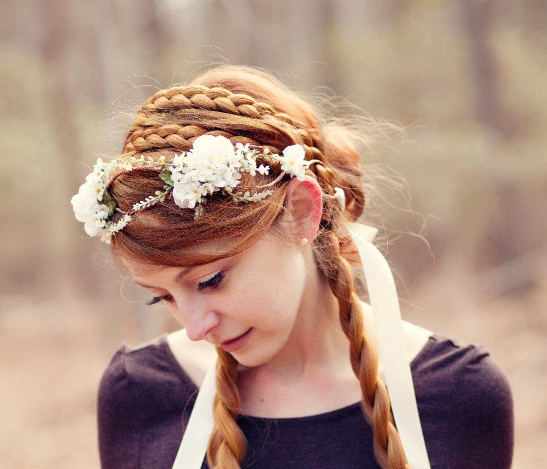 Wide Double Strand Hair Braided Headband Bridal Beach Wedding