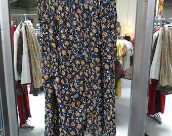 Vintage 1970s Floral Maxi Skirt Size Medium Express