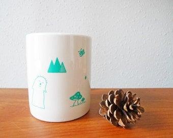 Cute Illustration Porcelain Mug Cup