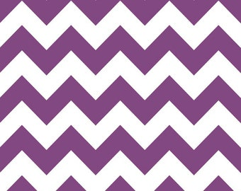 SALE - Riley Blake - Medium Chevron in Purple