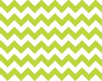 SALE - Riley Blake - Small Chevron in Lime
