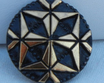 Origami Czech Glass Button