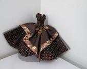 Barbie Evening Dresses /  Brown Velvet & Satin Ball Gown