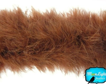 boas, 2 YARDS - DARK BROWN Marabou Feather Boa 25 gram : 117