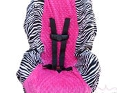 Carseat Cover Zebra with Hot Pink Toddler