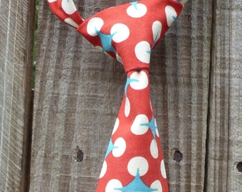 Neck Tie for Boys - Infant/Toddler/Child/Kid - Red Retro Dot