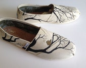 send me any pair of shoes-new growth-bare branches-wedding-hand painted shoes-made to order