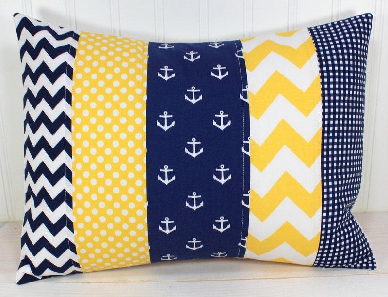 Nursery Pillow Cover Throw Pillow Cover Anchor Nursery