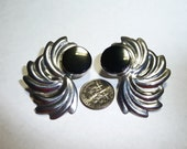 Vintage Taxco Mexico Sterling Silver and Onyx Earrings on Etsy